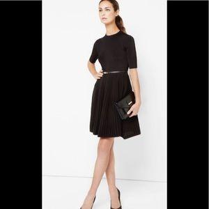 TED BAKER Black Belted Fit & Flare Dress 4